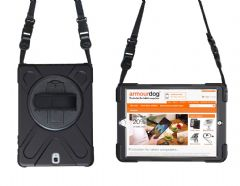 Rugged case Samsung Tab A 10.5 T590 & T595 hand/shoulder strap, kick stand & screen protector